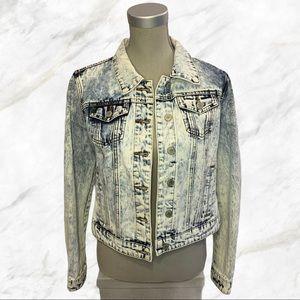 eightytwo denim | Bleach Washed Denim Jacket